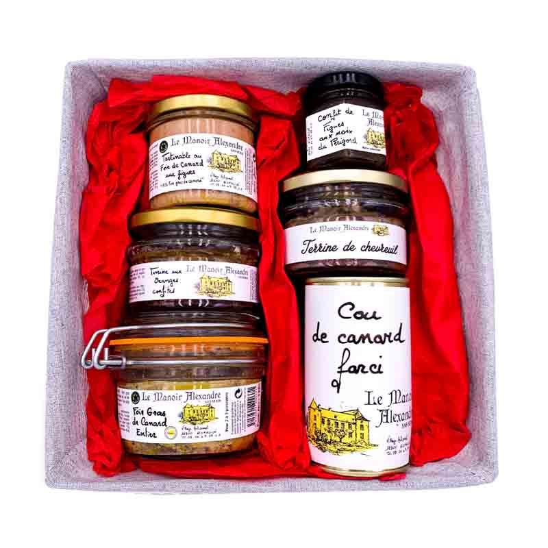 Panier Gourmand Festif | Le Manoir Alexandre | Idées Cadeaux