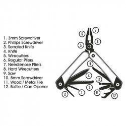 Pince Multi-Tool 12-En-1| Gentlemen's Hardware | Idées Cadeaux pour LUi