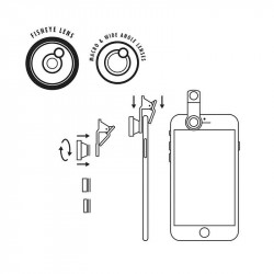 Kit Photo Smartphone 3-En-1| Gentlemen's Hardware | Idées Cadeaux pour Elle