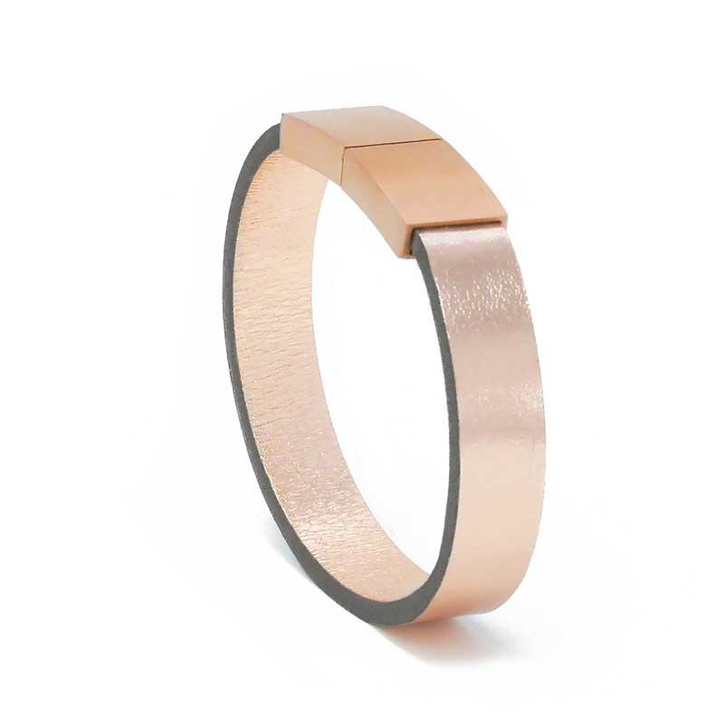 Bracelet Cuir Rose Pâle | AIMI Studio | Idées Cadeaux Femme