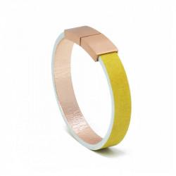 Bracelet Cuir Citron | AIMI Studio | Idées Cadeaux Femme