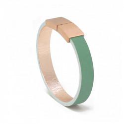 Bracelet Cuir Émeraude | AIMI Studio | Idées Cadeaux Femme