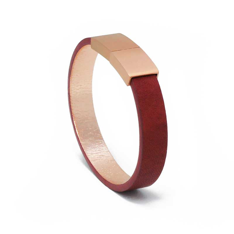 Bracelet Cuir Rubis  AIMI Studio   Idées Cadeaux Femme