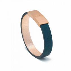 Bracelet Cuir Saphir | AIMI Studio | Idées Cadeaux Femme