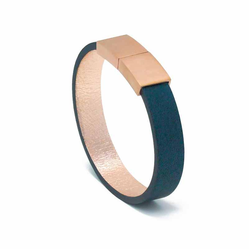 Bracelet Cuir Femme | Saphir | Aimi Studio