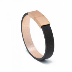 Bracelet Cuir Black | AIMI Studio | Idées Cadeaux Femme