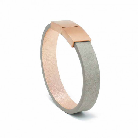Bracelet Cuir Taupe | AIMI Studio | Idées Cadeaux Femme