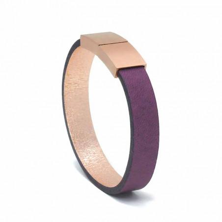 Bracelet Cuir Lilas | AIMI Studio | Idées Cadeaux Femme