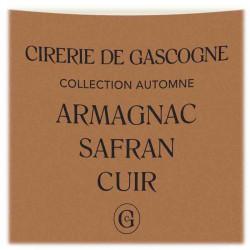 Bougie Armagnac, Safran & Cuir   La Cirerie De Gascogne   Idées Cadeaux