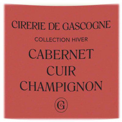 Bougie Cabernet, Cuir & Champignons | La Cirerie De Gascogne | Idées Cadeaux Lifestyle
