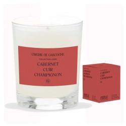 Bougie Cabernet, Cuir & Champignons | La Cirerie De Gascogne | Idées Cadeaux Femme