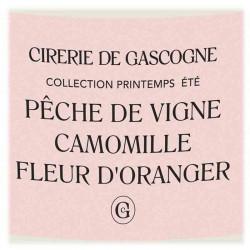 Cirerie De Gascogne   Bougie Originale Pêche De Vigne, Camomille,  Fleur d'Oranger