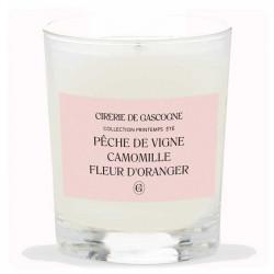 Bougie Pêche De Vigne Camomille Fleur D'oranger   La Cirerie De Gascogne   Idées Cadeaux Lifestyle