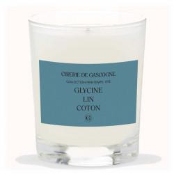 Cirerie De Gascogne | Bougie parfumée Bien-être | Glycine, Lin & Coton