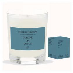 Bougie Glycine, Lin & Coton| La Cirerie De Gascogne | Idées Cadeaux