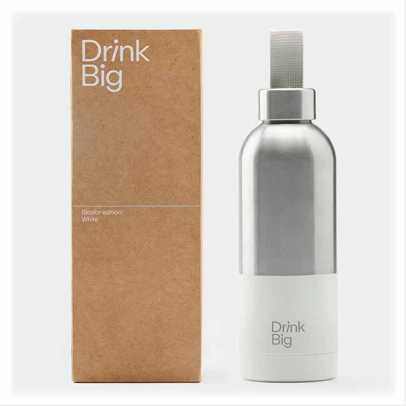 Bouteille Bicolor White | Drink Big | Idées Cadeaux Lifestyle