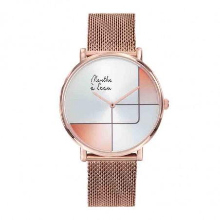 Montre Indécise Maille Doré Rose| Menthe à L'eau | Idées Cadeaux Mode Femme