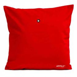 Coussin Grue Royale Rouge Velours | ART PILO | Idées Cadeaux Déco Originales
