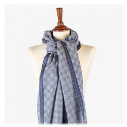 Châle Damasco Bleu | Del Carmen | Idées Cadeaux Mode Femme