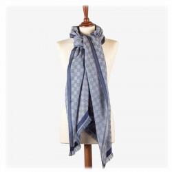 Châle Damasco Bleu | Del Carmen | Idées Cadeaux Femme
