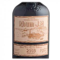Rhum JM 2003 15 ans   Cadeau Homme