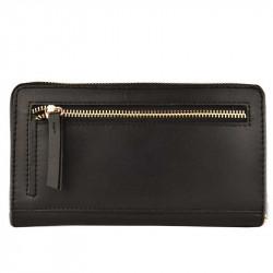 Portefeuille Zippé Noir | LOXWOOD Noir | cadeaux pour Elle