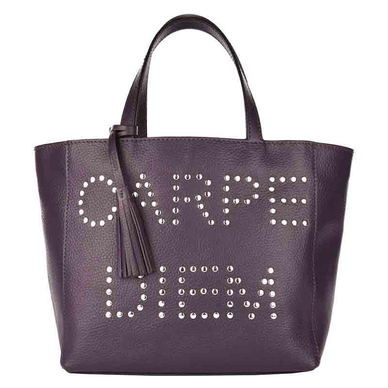 Cabas PARISIEN CARPE DIEM Purple | LOXWOOD