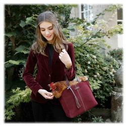Petit cabas PARISIEN | LOXWOOD | Velours Cherry | idées cadeaux Femme
