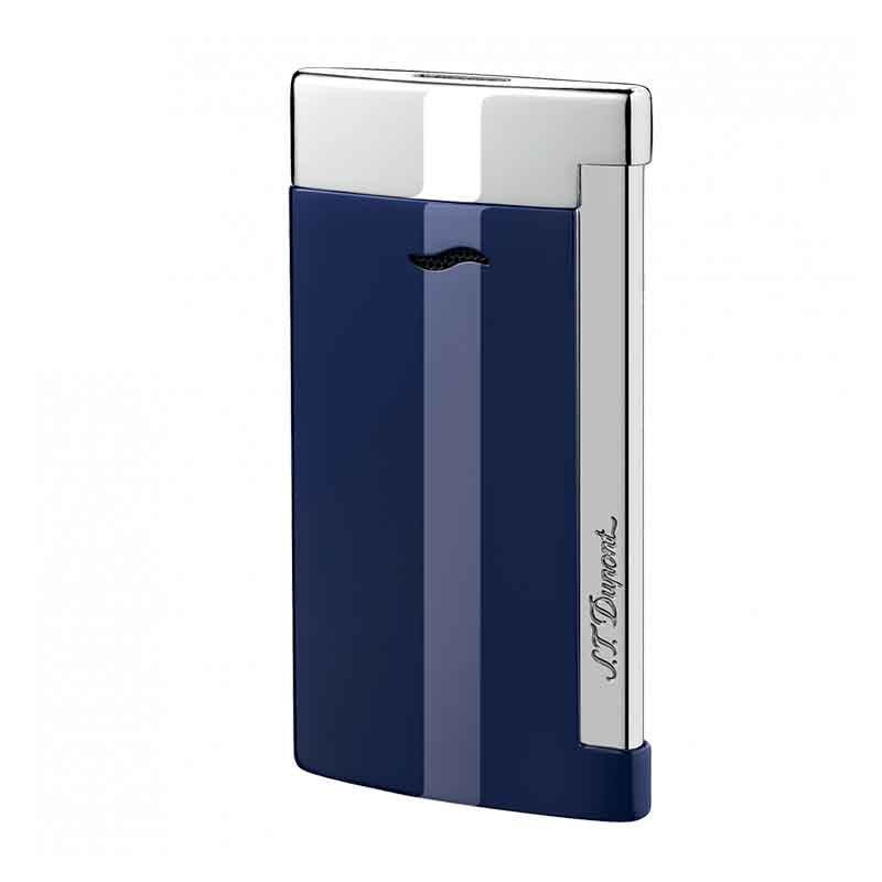 Slim 7 Bleu et Chrome   Briquet S.T. DUPONT   Idées cadeaux Homme - Femme