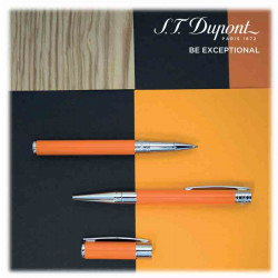 Stylo Bille D-Initial Orange | S.T. DUPONT | Idées Cadeaux Homme - Femme